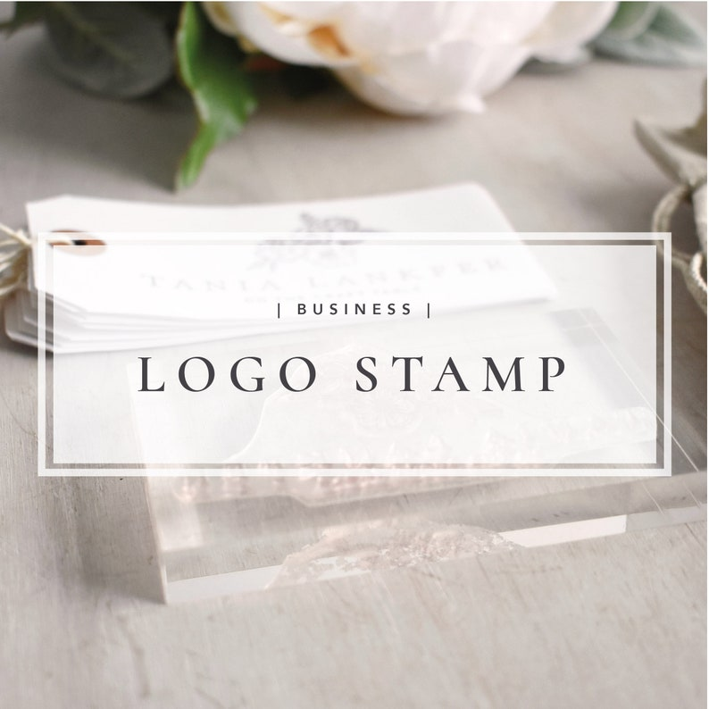Custom Logo Stamp  Personalised Business Stamp image 1