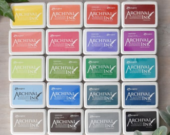 Ranger Archival Ink Dye Ink Pad - 28 COLOUR OPTIONS - Rubber Stamping Ink