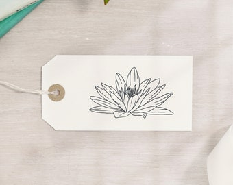 Lotus Flower Water Lily Stamp | 3 Sizes | July Birth Flower