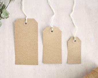 Brown Kraft Luggage Tags (3 sizes)