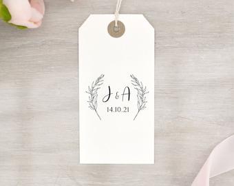 Open Wreath Custom Wedding Stamp