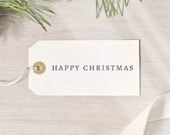 Happy Christmas Simple Stamp