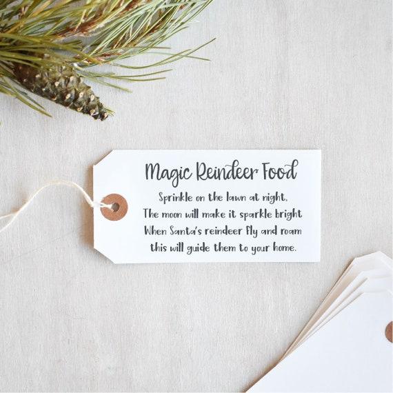 Landscape Magic Reindeer Food Poem Stamp Etsy