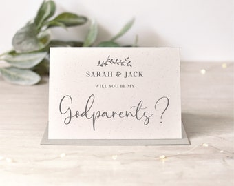 Personalised Godparents, Godmother, Godfather Card | 2 Colours