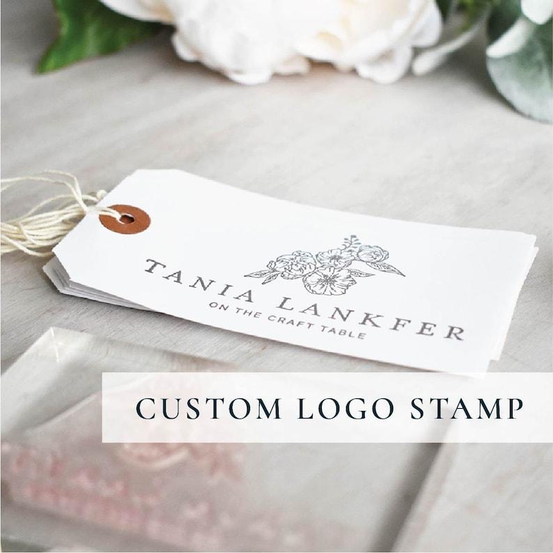 Custom Logo Stamp  Personalised Business Stamp image 0