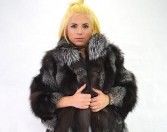 a91ddccc7a9 Black fur coat