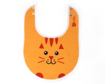 Yellow and Orange Cat Bib