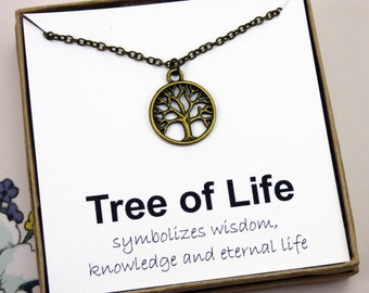 Tree of life meaning etsy antique brass tree of life necklace tree necklace tree jewelry jewelry with meaning rustic necklaces woodland necklace inspire aloadofball Images