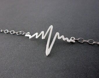 Heartbeat Bracelet, ekg jewelry, ekg bracelets, inspirational bracelet with meaning, homemade jewelry with meaning, meaningful bracelets