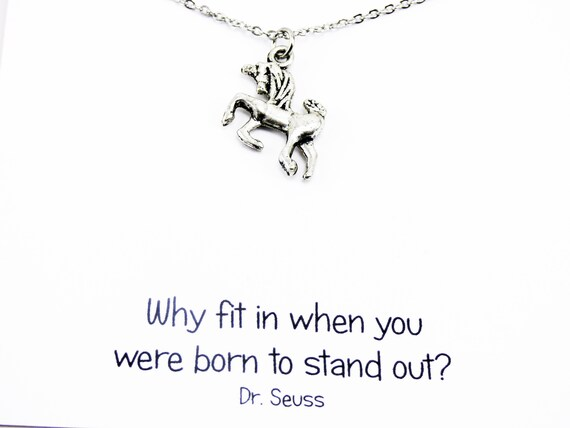 Scotland Jewelry Gift for Her Graduation Gift Fantasy Necklace Mythical Creature Anniversary Gift Unicorn Necklace Scottish Gift