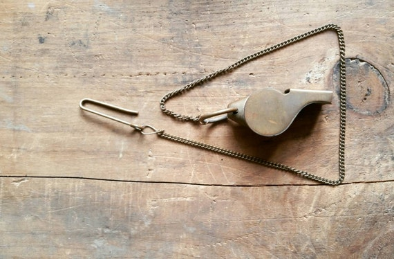 1950s trainers whistle chromed brass worn !