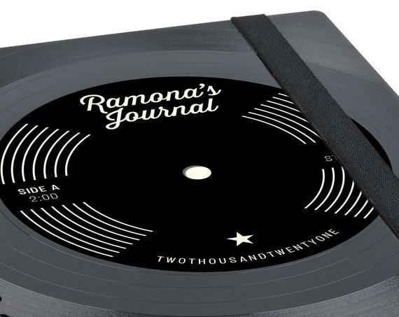 Personalisierter Taschenkalender 2021 aus einer Schallplatte | Notizbuch | Geschenk für Musikliebhaber | Vintage | Wochenkalender