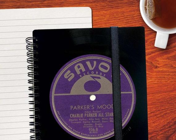 Notizbuch aus Vinyl handgearbeitet | originelles DJ Geschenk - Musik Geschenk - Notizbuch liniert - Notizbuch kariert - Notenpapier
