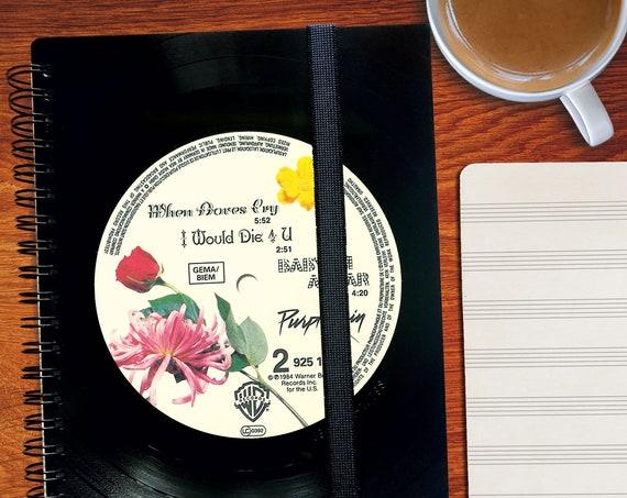 Geschenk Musiker | A5 Notizbuch aus Schallplatte | Notenheft | Musikliebhaber | Musikjunkie | liniertes blanko Buch aus Vinyl | Phonoboy