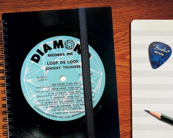 A5 Notizbuch aus Schallplatte | Notenheft | Tagebuch | liniertes blanko Buch aus Vinyl | Phonoboy