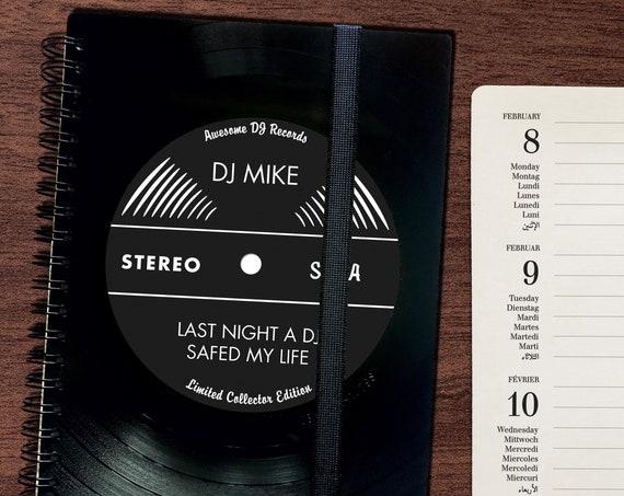 A5 Taschenkalender 2022 aus Vinyl | handgearbeitetes Notizbuch |