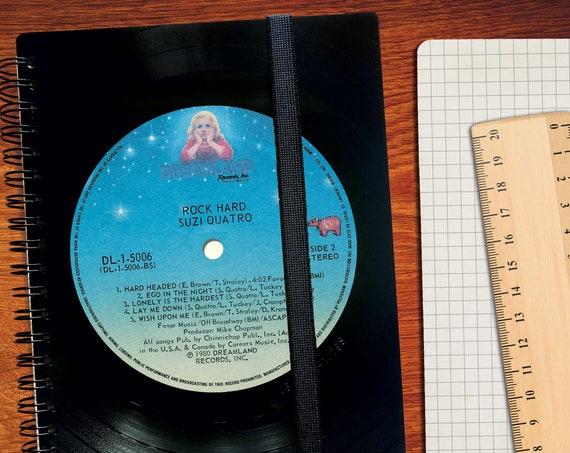 Vinyl A5 Notizbuch kariert | liniert | blanko | Upcycling Schallplatten | Tagebuch | Geschenk für Musiker