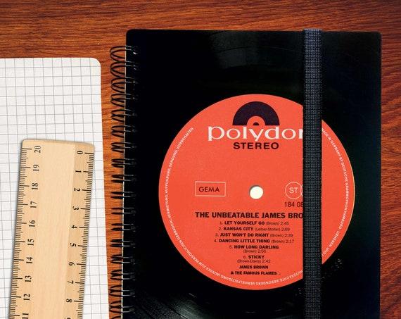 Din A5 Notizbuch aus recycelter Schallplatte | Phonoboy