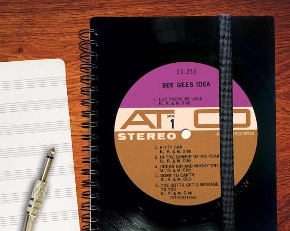 A5 Notizbuch aus Schallplatte | Notenheft | blanko Tagebuch | liniertes  Buch aus Vinyl | Phonoboy