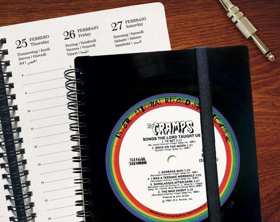 2021 Kalender aus einer Schallplatte | Notizbuch | Geschenk für Musikliebhaber | Vintage | Kalender | Planer