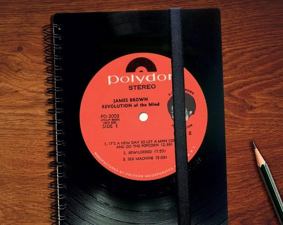 A5 Planer 2022 aus Vinyl | Upcyling Taschenkalender | Musikliebhaber Geschenk