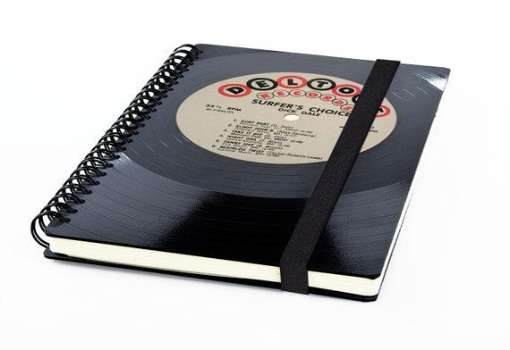 Personalisierter Kalender 2020 aus einer Schallplatte | Notizbuch | Geschenk für Musikliebhaber | Vintage | Taschenkalender | Planer
