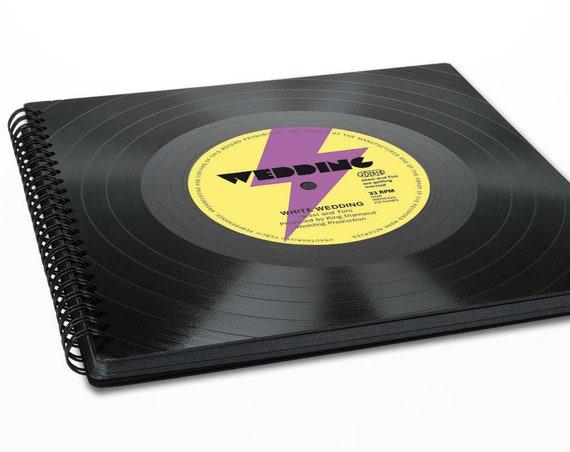 80s Fotoalbum aus Schallplatte | Hochzeitsalbum | 80er Jahre Hochzeit |