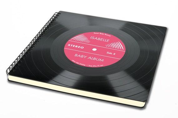 Personalisierbares Baby Album | Taufgeschenk aus Schallplatte | Gästebuch | Vinyl | Phonoboy | Phonoboy