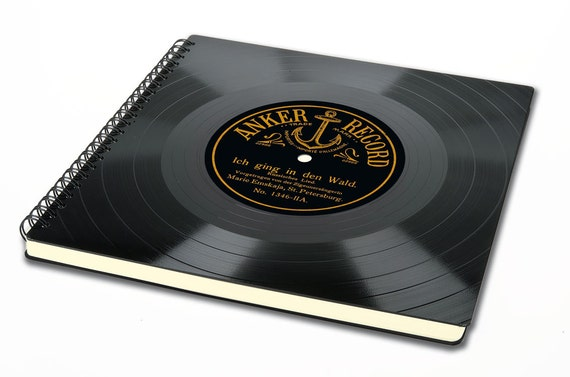 Fotoalbum aus Schallplatte - Gästebuch | Geschenk für Musiker | Musikliebhaber | Künstler | Phonoboy