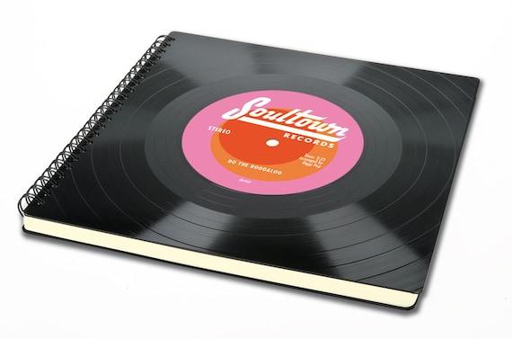 Personalisierbares Gästebuch | Skizzenbuch aus Schallplatte | Hochzeitsalbum | Hochzeit | Geschenk | Phonoboy