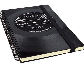 Journal | Notebook from Vinyl / Gift for Boyfriend / Music Journal / Photographer / Music Lover / Anniversary Gift