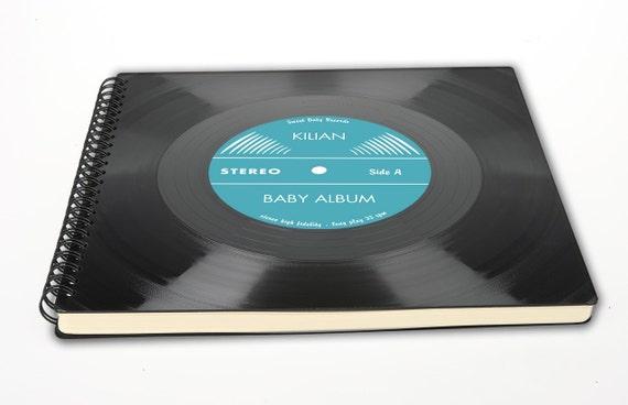 Personalisierbares Baby Album   Taufgeschenk aus Schallplatte   Gästebuch   Vinyl   Phonoboy