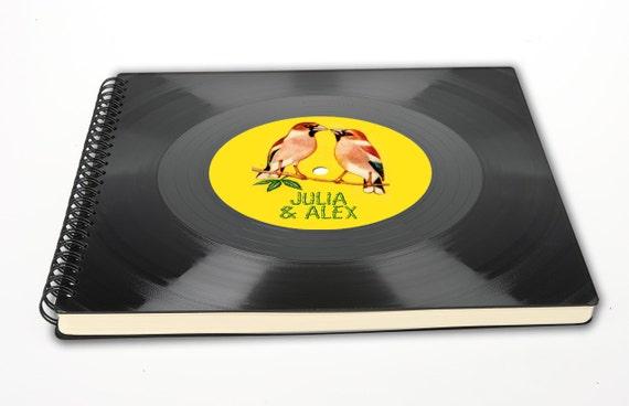 Fotoalbum aus Schallplatte | Vogel | personalisiert | Phonoboy