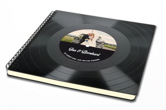 Personalisiertes Hochzeit Gästebuch | Hochzeitsalbum aus Schallplatte - Fotoalbum |  | Vinyl Album | Vintage Album | Hochzeitsfoto