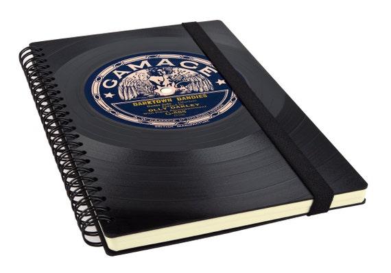 Notizbuch aus recycelter Schallplatte - DARKTOWN DANDIES | Phonoboy