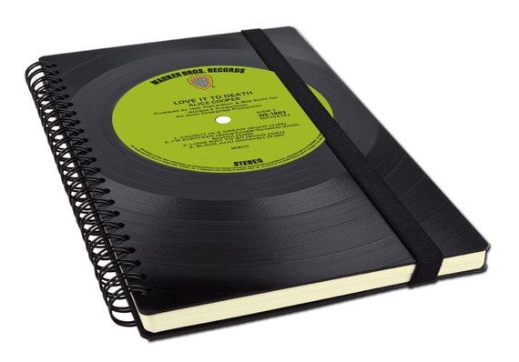Buchkalender 2020 aus einer Schallplatte | Recycling Notizbuch | Musik Geschenk | Vintage | Kalender | Planer