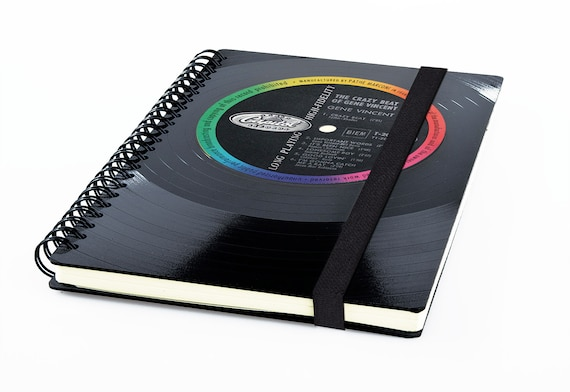 Kalender 2020 aus einer Schallplatte | Recycling Notizbuch | Musik Geschenk | Vintage | Wochenkalender | Planer