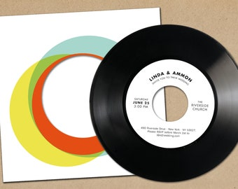 Music Wedding Invitations made from real Vinyl   Retro Music Invitation   Record Invite   Retro Wedding   Phonoboy
