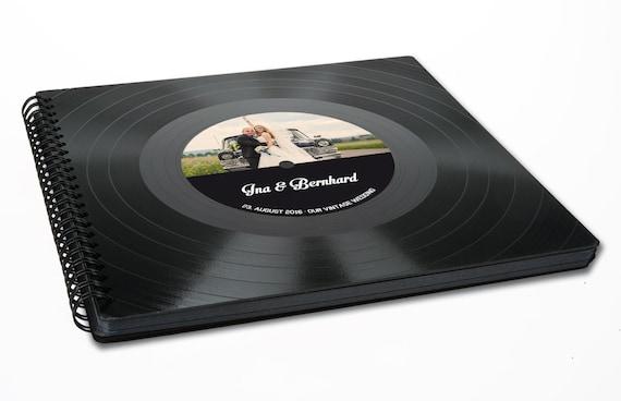 Personalisiertes Hochzeitsalbum, Fotoalbum aus Schallplatte, personalisiertes Fotoalbum | Phonoboy