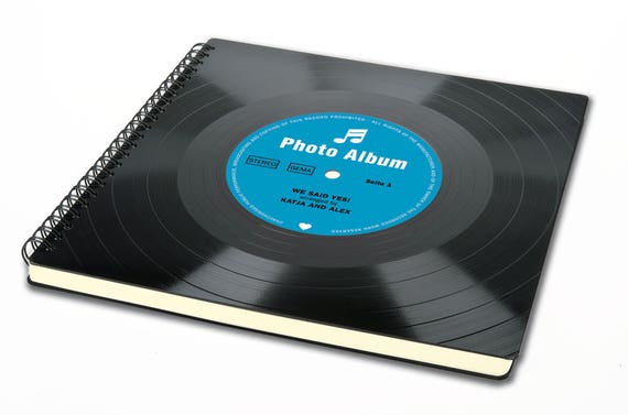 Personalisierbares Hochzeitsalbum aus Vinyl |  Geschenk Hochzeitstag | Fotoalbum | Hochzeitsgästebuch | Hochzeitsgeschenk | Originell