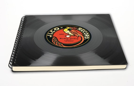 Vintage Hochzeitsalbum aus Schallplatte - Fotoalbum | Hochzeit | Gästebuch | retro | Phonoboy