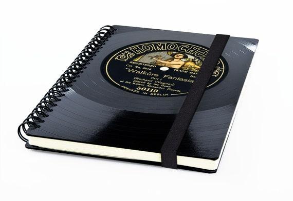 Upcycling Notizbuch aus Schallplatte | Notebook | Phonoboy