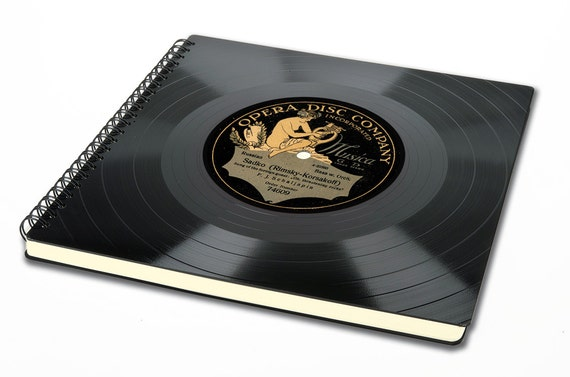 Vintage Hochzeitsalbum aus Schallplatte - Fotoalbum | Hochzeit | Gästebuch | retro