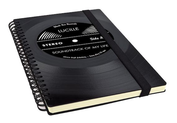 Notizbuch aus Schallplatte  - Geschenk für Männer | Frauen | Musiker | Künstler