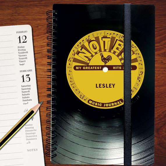 Personalisierter Kalender 2021 aus einer Schallplatte | Notizbuch | Geschenk für Musikliebhaber | Vintage | Taschenkalender | Wochenkalender