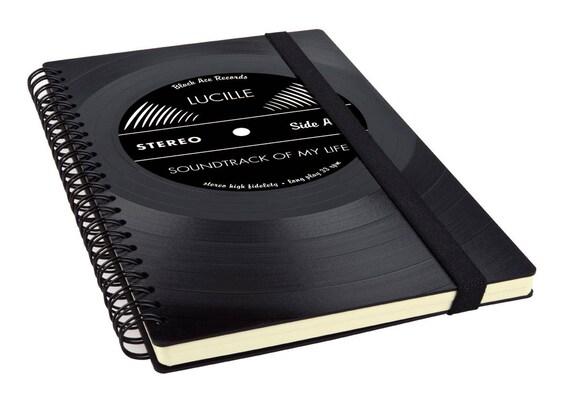 Personalisierter Kalender 2020 aus einer Schallplatte | Notizbuch | Geschenk für Musikliebhaber | Vintage | Taschenkalender | Wochenkalender