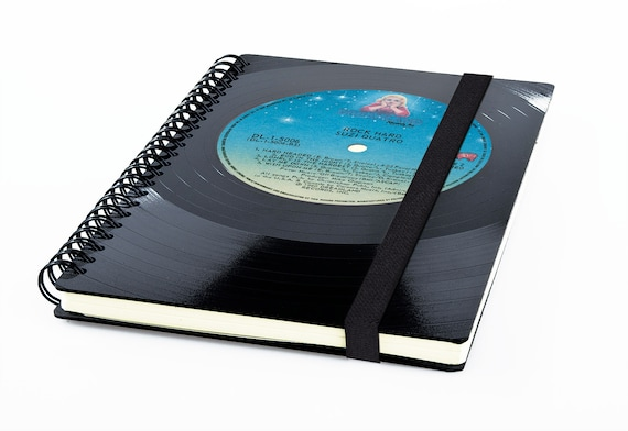 Vinyl Notizbuch | Notenheft | blanko Tagebuch | liniertes Buch aus echter Schallplatte | Phonoboy