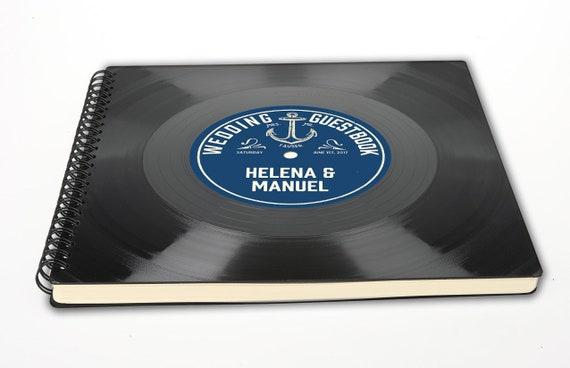 Fotoalbum aus Schallplatte | Personalisierbares Gästebuch | Hochzeitsgeschenk | Geschenk | Vintage | Phonoboy
