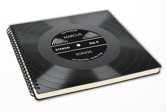 Sketchbook Notizbuch aus Schallplatte / Geschenk für Musiker / Plattensammler / Musik Liebhaber / Künstler | Phonoboy | Phonoboy