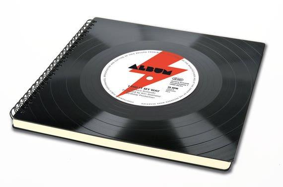 80s Fotoalbum aus Schallplatte | Alternatives Geburtstagsgeschenk | Geschenk zum Geburtstag | Geburtstagsalbum | Gästebuch Geburtstag